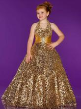 free shipping gold flower girl dresses for weddings 2013 first communion dress little christmas pageant girls