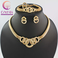 Free Shipping Dubai African Gold Plated Mysterious Charming Fashion Romantic Bridal Women Necklace jewelry set WB-1106