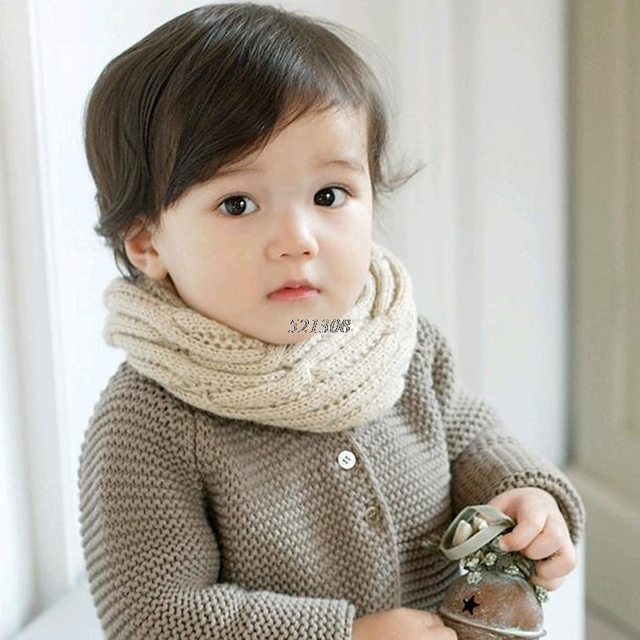 Kids Baby Boy Girl Winter Warm Knitting Soft Scarf Candy Scarf Snood Protection Material Baby Skin Care Scarf 5 Colors