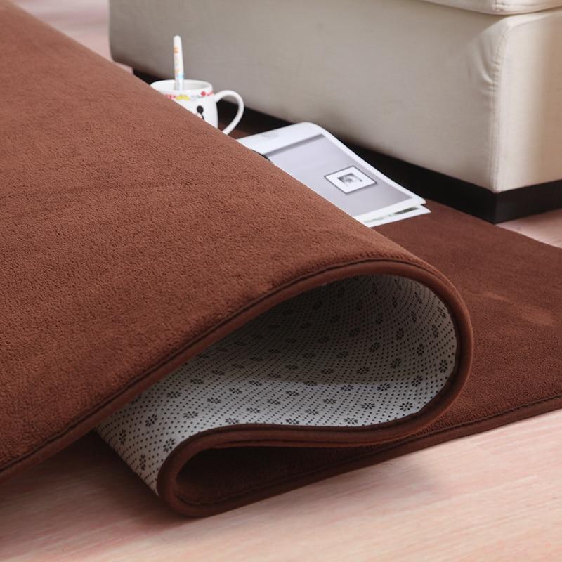 LIU 14 couleurs corail velours grand tapis chambre boutique salon table de chevet moderne rectangulaire maison tapis doux canapé tatami tapis - 2