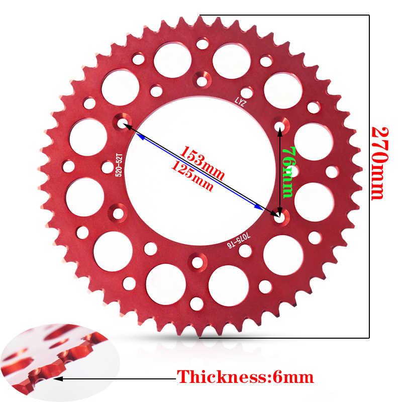 Мотоцикл цепной звездочки зубчатая пластина блюдо fly gear 520 52 t CNC алюминиевый сплав