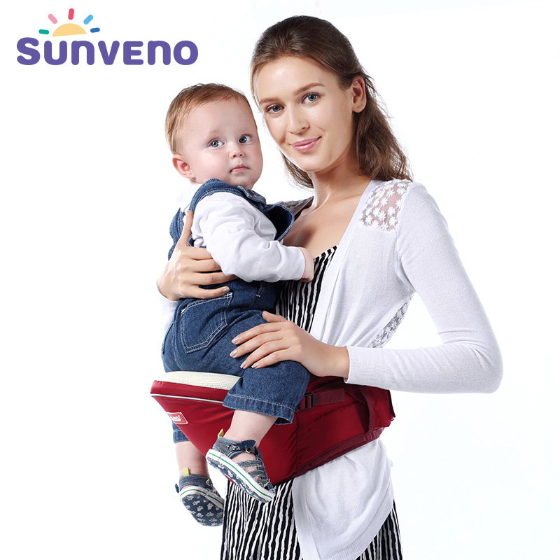 Sunveno Ergonomic Baby Carrier Kangaroo Baby Holder Hip Seat Carrier Heaps Newborn Tabouret Shoulder Baby Wrap Sling Porte Bebe 2018 baby hipseat kangaroo rucksack mochila portabebe ergonomic baby carrier 360 hip seat baby sling for newborn