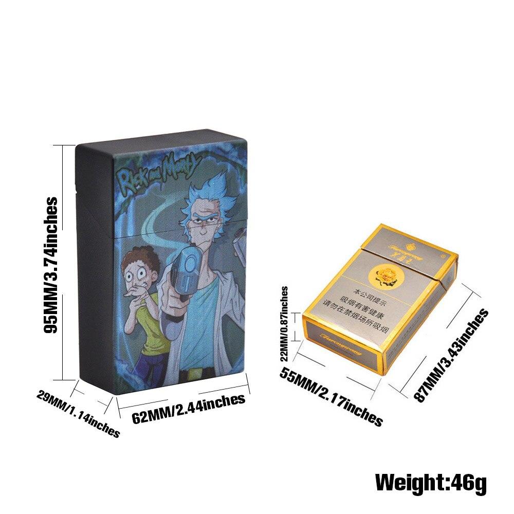 Чехол для сигарет Рик и Морти, пластиковый чехол для сигарет, чехол для обычных сигарет, портативный держатель для сигарет