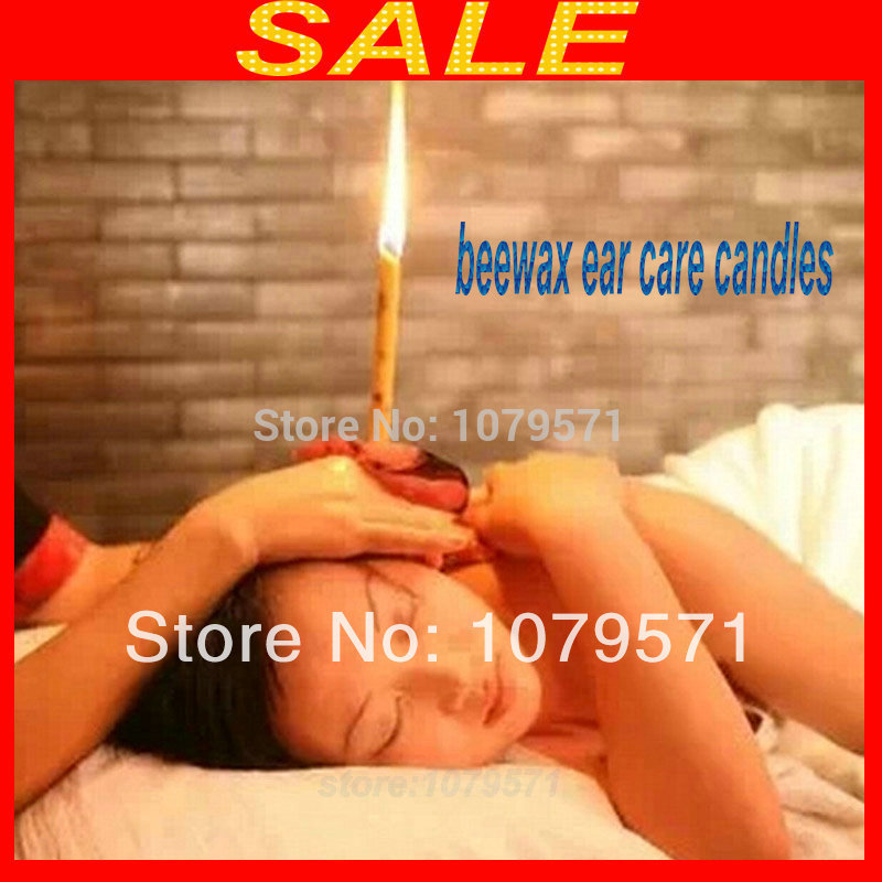 500pcs 250pairs Free shipping Aromatherapy Ear Candles Refreshing Beewax Ear Care Candles
