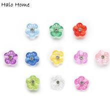 Rhinestones-Buttons Clothing Flower Acrylic Handwork-Decor Scrapbooking Sewing 50pcs