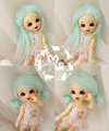 1/8 1/12 BJD Wigs hot sell Fashion green fur wig bjd sd long wig for DIY dollfie
