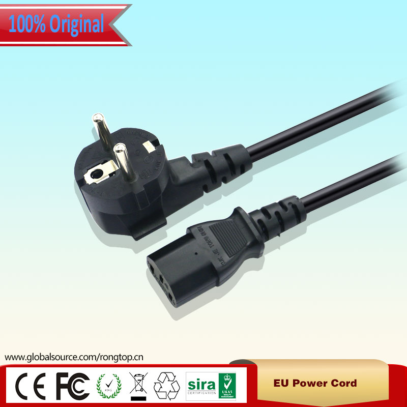 New EU Plug 3 Prong Kettle Power Supply Cable Cord for Laptop ...