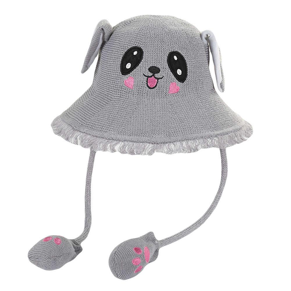 かわいいベビー漫画移動ウサギ耳わらキャップ太陽保護バケツの帽子ギフト