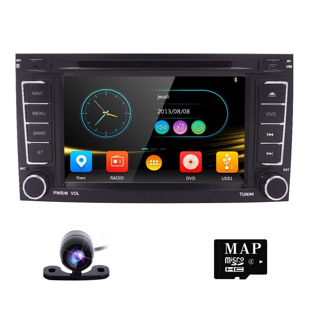 2DIN DVD De Voiture pour VW Volkswagen Touareg T5 Multivan Radio Voiture GPS navigation Miroir-Lien CFC RDS FM/ SUIS BT JEU SUBWOOFER iPod CAM