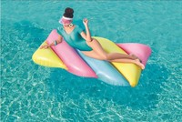 INS Candy Color Marshmallow Inflatable Float 190cm Giant Pool Party Toys Swimming Ring Air Mattress Water Fun Floats boia