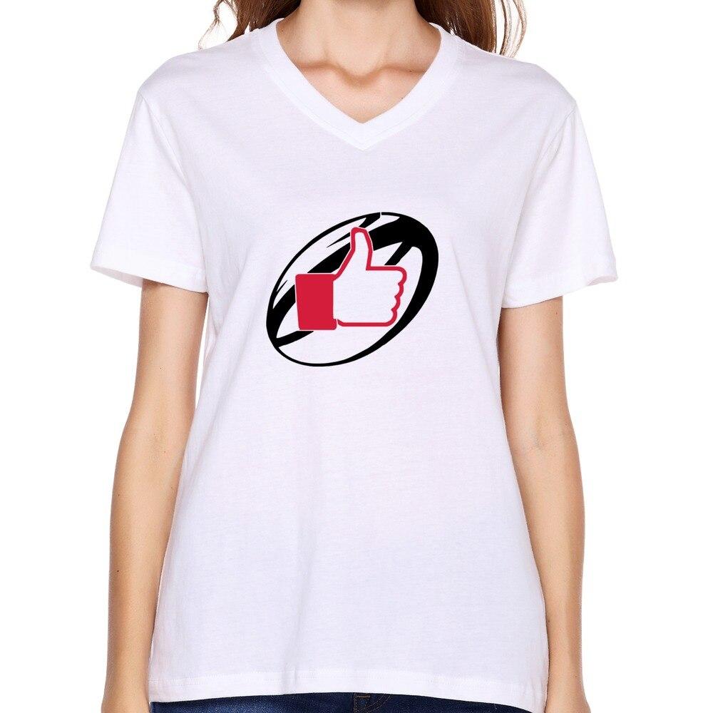 Custom Funny V Neck Women Shirts Swag Rugby T Shirt Funny