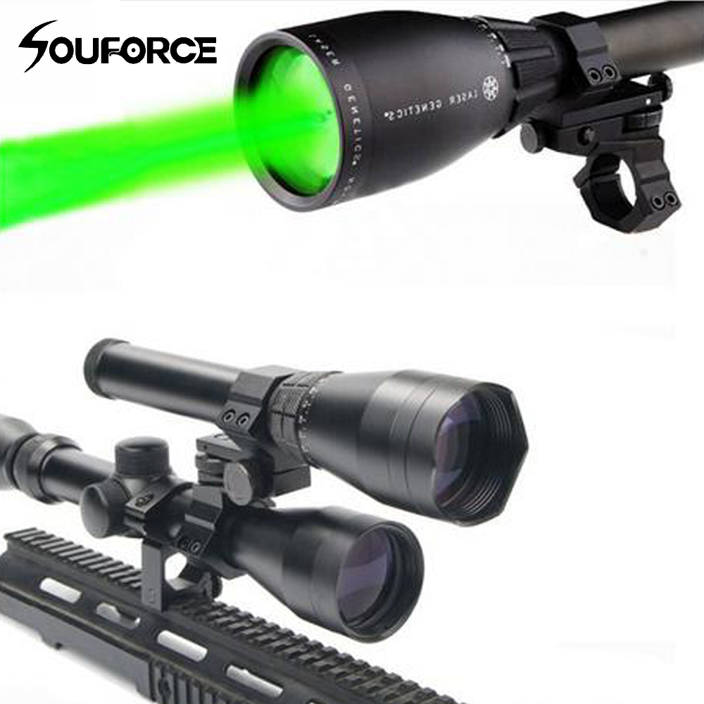제로 섭씨 시작 야간 녹색 레이저 지정자 사냥 조명 ND-50 w 2 Ajustable 범위 마운트 2 스위치 M