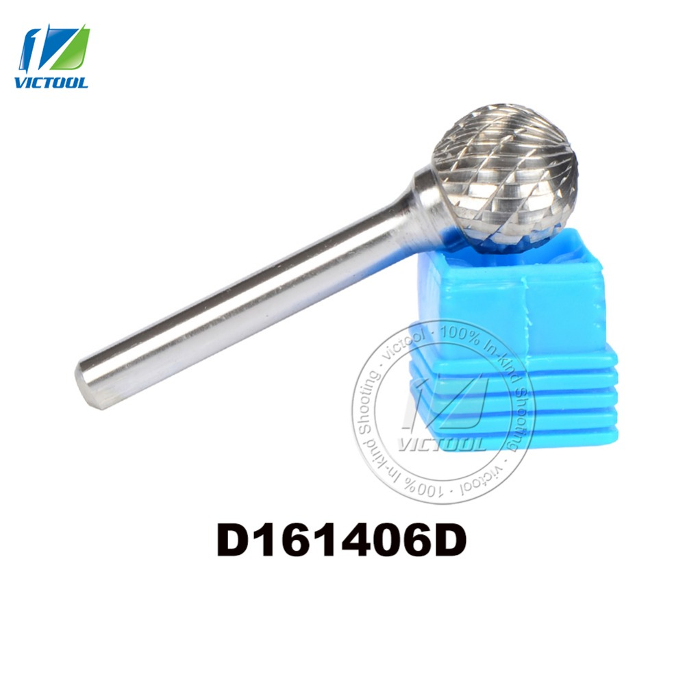 1pc D161406 ball head 16*14mm carbide rotary burr file cutter grinding and abrasive tools milling bits burs bur