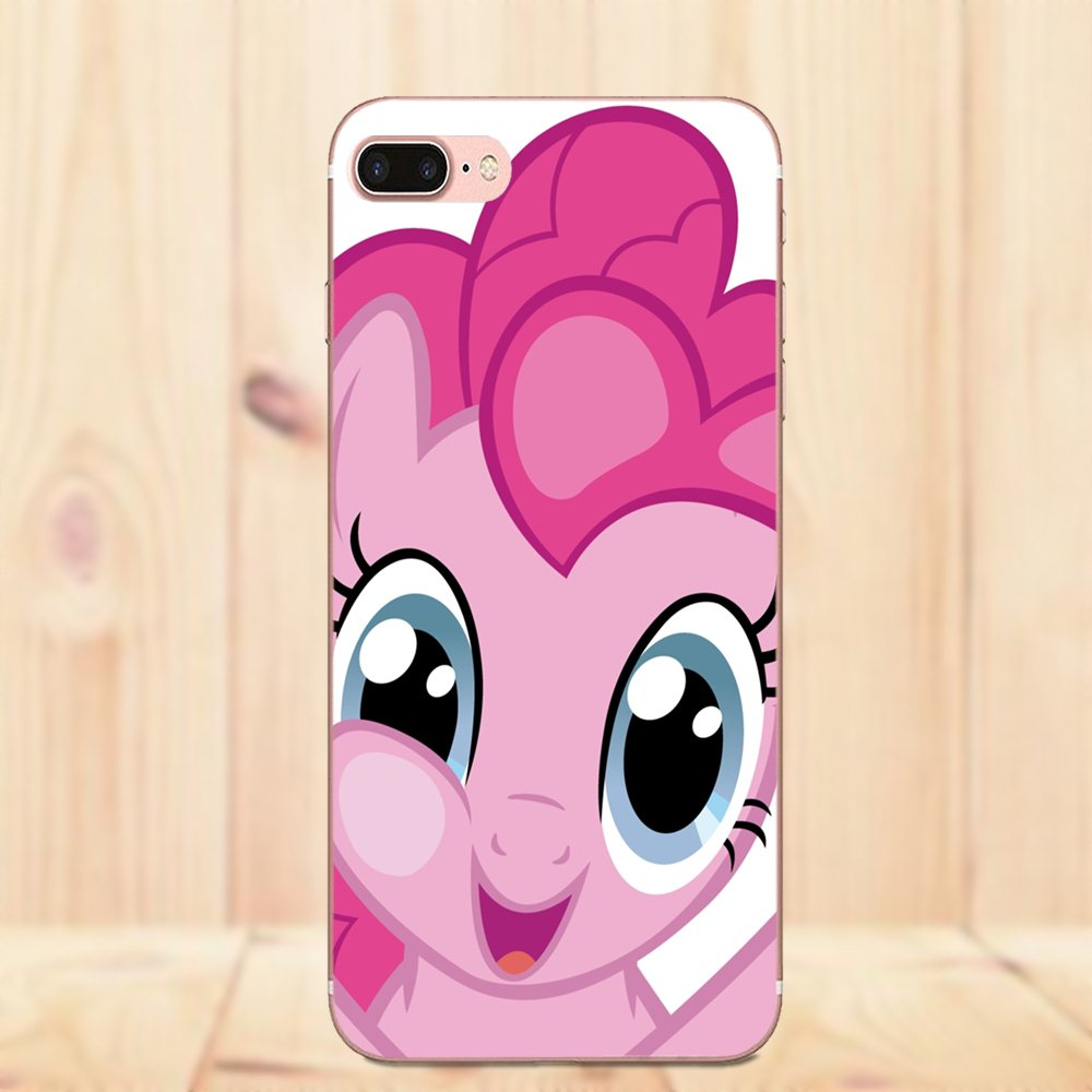 Cartoon Red My Little Pony Pinkie Pie TPU Coque For Galaxy A3 A5 A7 On5 On7  2015 2016 2017 Grand Alpha G850 Core2 Prime S2 I9082