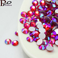SS3-SS20 More size light siam AB 3D Nail Rhinestones Flatback Glass Strass Non HotFix Rhinestone For DIY Nails,1440pcs/bag