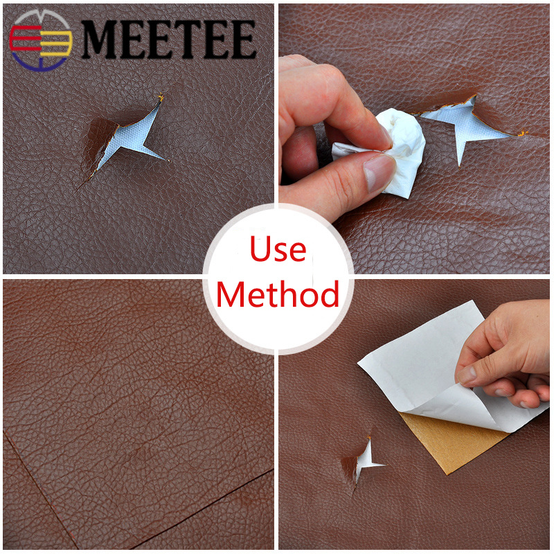 Image 3 - 50*135cm Faux Leather Fabric Solid Color Suede Synthetic Self adhesive Leather Fabric Patching Simulation Leather Adhesive PatchSynthetic Leather   -