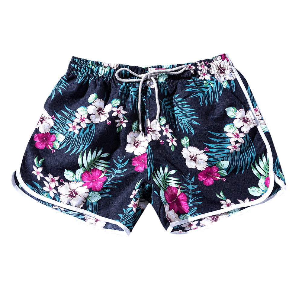 2018 Hot Summer Men Couples Beach Floral Bohe Shorts Trunks Nickel Pants Plus Size For Male Drop Shipping Men's Clothing