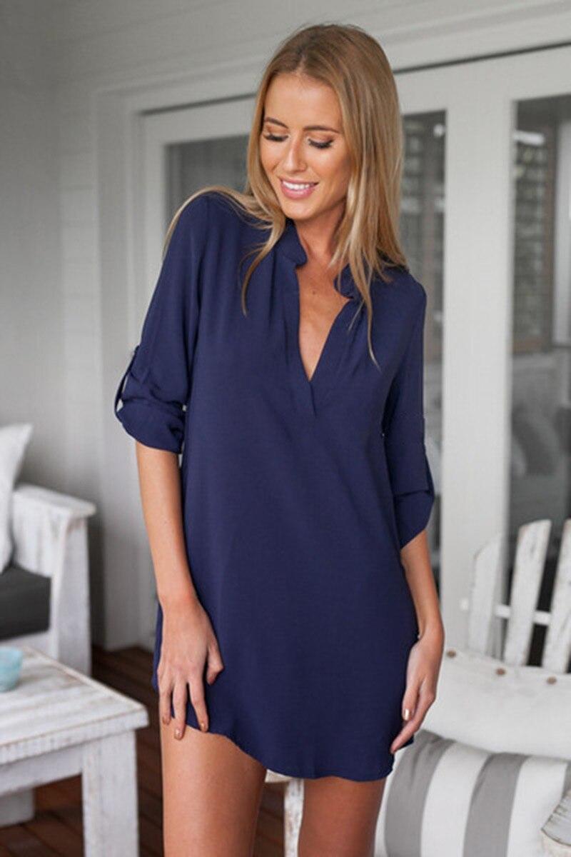 ac9ea7f60 Maternidad con cuello en V Blusa de gasa manga larga más camisa para  mujeres embarazadas moda suelta mujeres Tops blusas Mujer Femme ropa
