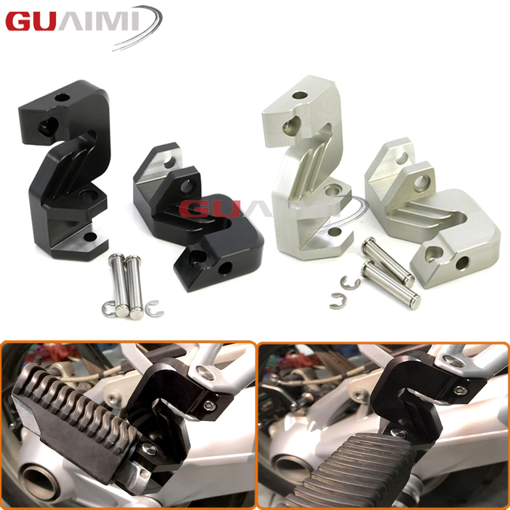 Motorcycle Passenger Foot Peg Relocation Foot Rests Regulator Accessories For BMW R1200GS 2005 - 2012 R 1200 GS ADV 2006 - 2013