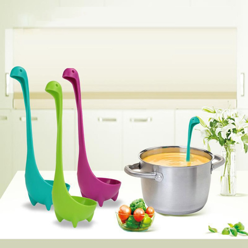Tableware Spoon Vertical-Oat-Spoon Dinosaur-Stand Kitchen Creative Cute 1pc title=