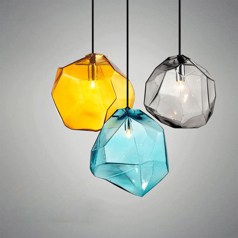 Modern Minimalist Pendant Lights Creative Colorful Glass Pendant Lamps Restaurant LED Lamps Indoor Home Lighting creative restaurant chandelier modern pendant lamps minimalist led lamp for bar 3 color e27 home decoration lighting ac110v 240v