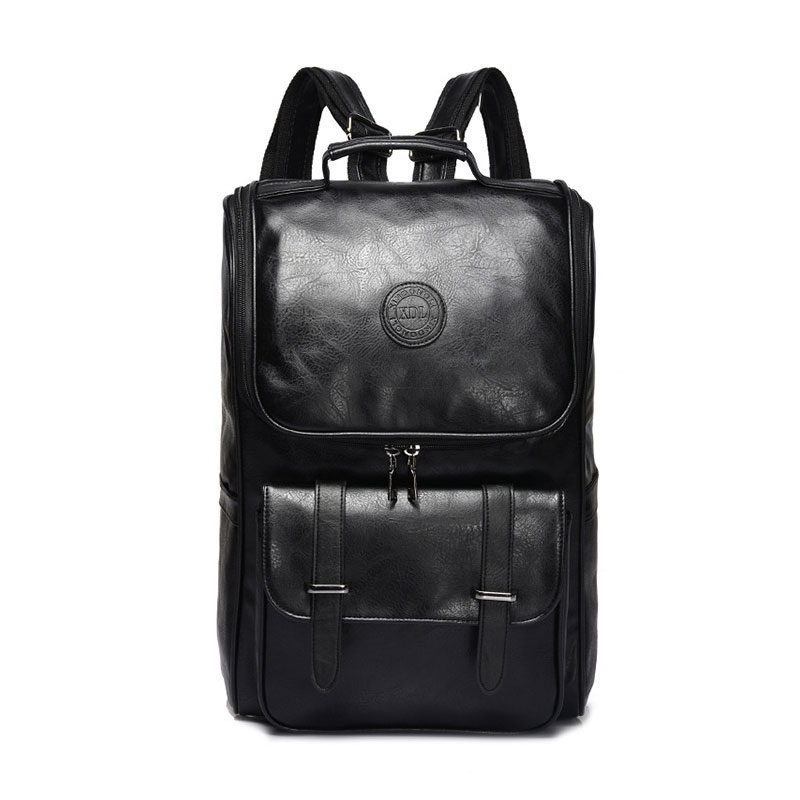 Men PU Patent Leather Backpacks Men's Fashion Backpack & Travel Bags Western College Style Bags Mochila Feminina magic union men s patent leather backpacks high quality bags fashion bag for men business travel mochila zip men laptop backpack