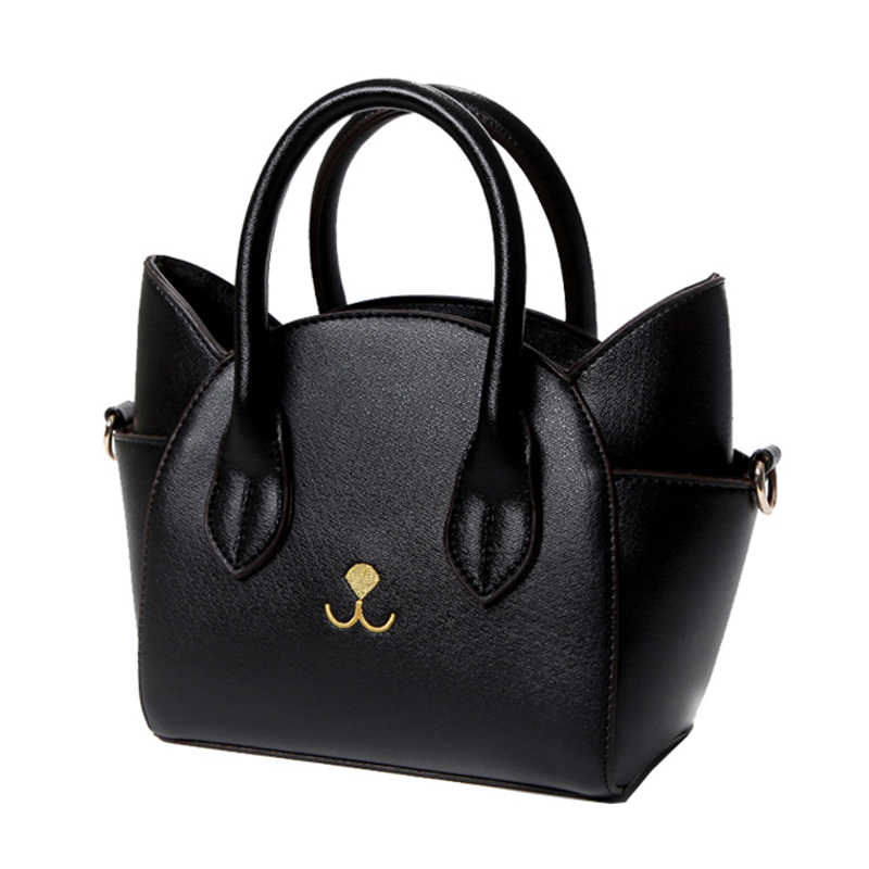 bfe39b10c30c Detail Feedback Questions about TFTP Fashion lovely women s pu leather top  handle shoulder bags female cute Cat Messenger handbags lady small totes ...
