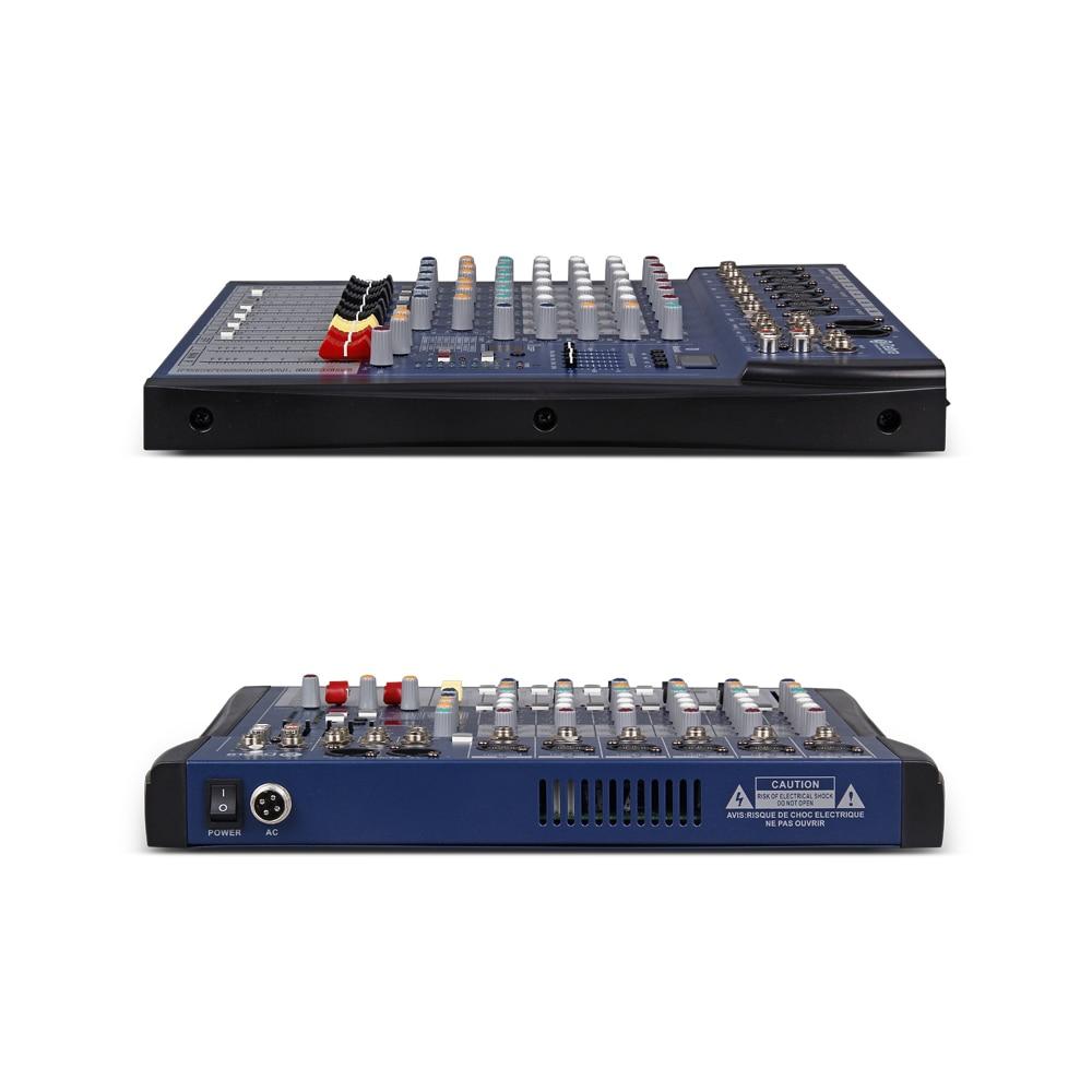 Хороший звук! USB Bluetooth dj контроллер миксер Профессиональный 6 канальный аудио цифровой эффект караоке КТВ Свадебный миксер - 3