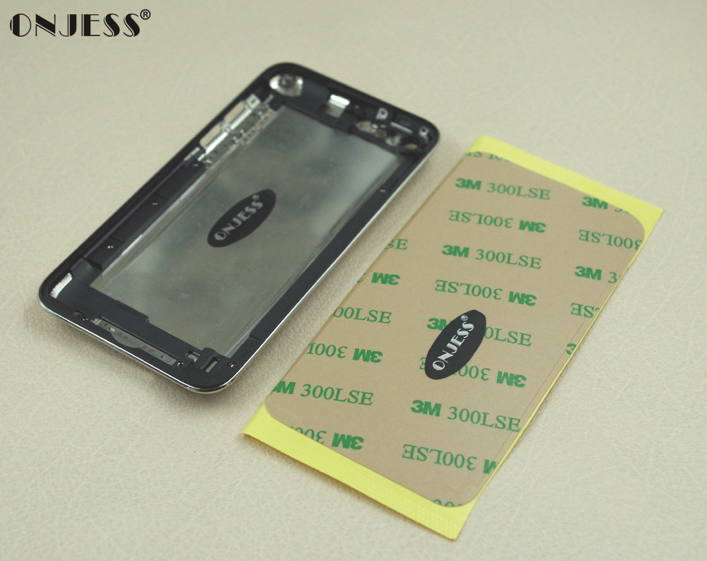 Onjess Metal Back Housing Case Cover with Black Frame Bezel Power Button for iPod Touch 4th gen Touch 4 8GB 32GB 64GB