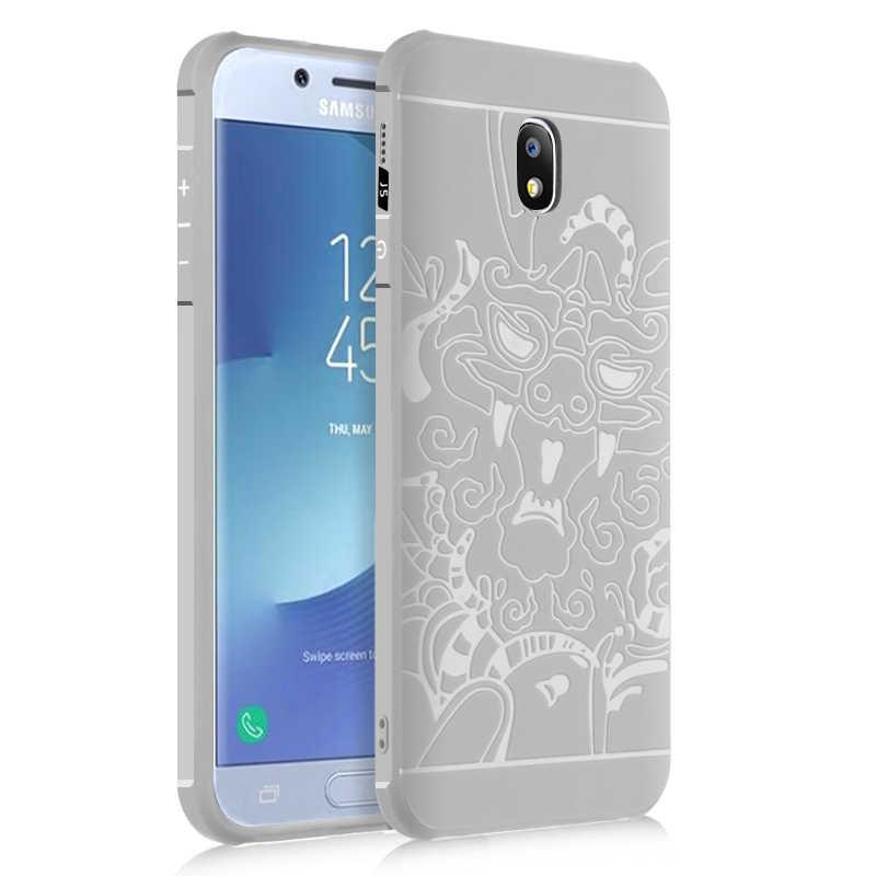 Bonvan чехол для Samsung Galaxy J5 J3 J7 2017 ЕС European version Case Евразийского версия мягкий силиконовый чехол на самсунг J330 j530 j730 3D резные случай защиты чехлы для телефона