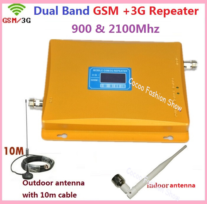 Newest 2G 3G LCD Signal booster ! GSM 900 GSM 2100 Mobile Phone Booster Amplifier 3G GSM Repeater +  antenna  1 setNewest 2G 3G LCD Signal booster ! GSM 900 GSM 2100 Mobile Phone Booster Amplifier 3G GSM Repeater +  antenna  1 set