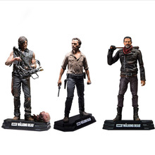 "15cm AMC The walking DEAD ""DARYL DIXON"" NEGAN ""RICK GRIMES""PVC Action Figure Toys Collector Christmas Gift doll"