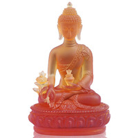 Opening of medicine guru buddha glass ornaments living room entrance by pharmacists buddha resin ornaments crafts home
