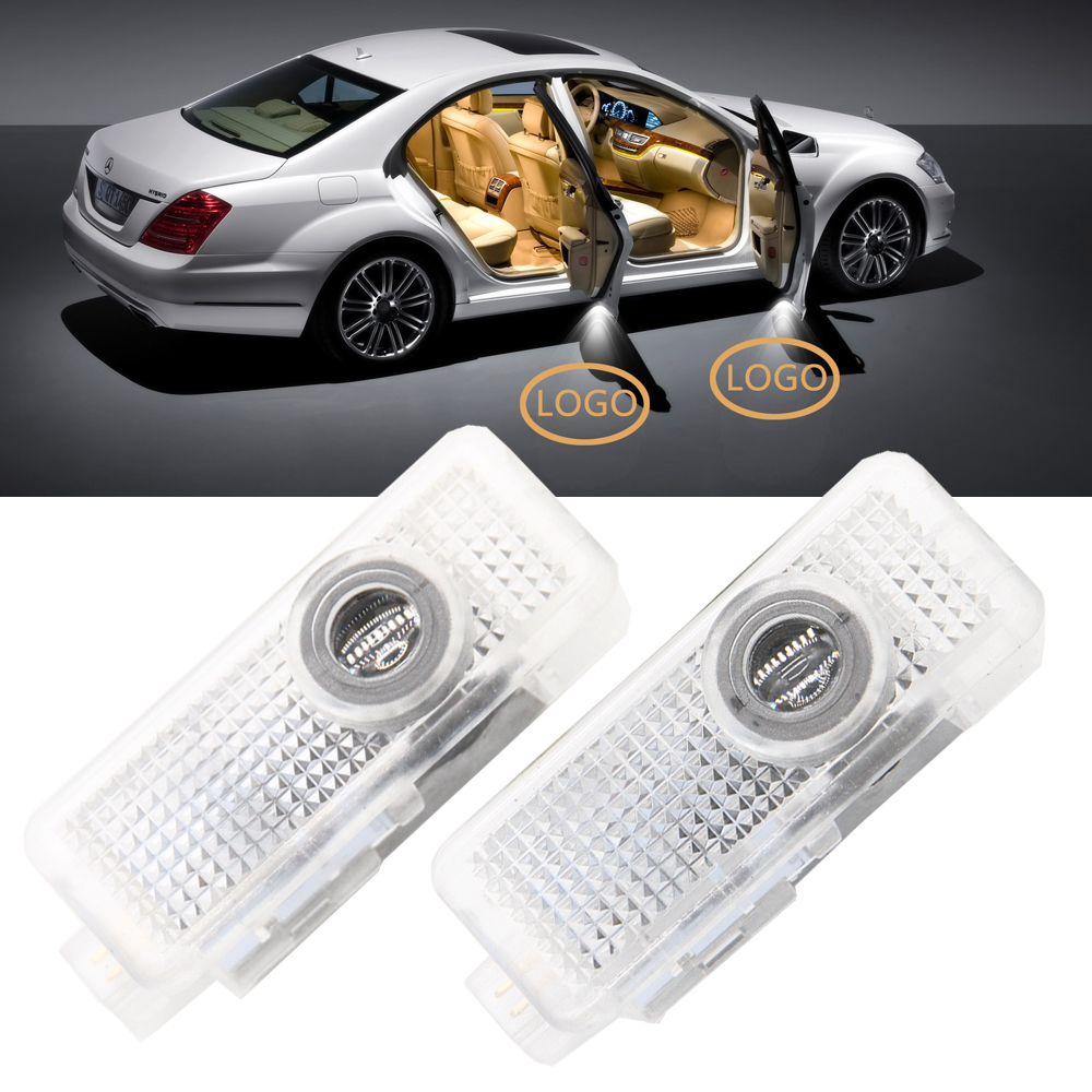 2x Car Door Led Laser Projector Ghost Shadow Lights Lamp For Mercedes-benz Amg Cla E Cabriolet Coupe C218 A207 C207 Cla200 Cls