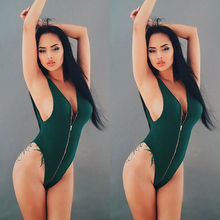 ddbee35297242 2017 New Sexy Zipper Front Swim Suits Monokini One Piece Swimsuit Summer  Women Mesh Solid Plus