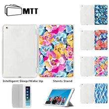 Спереди печати для iPad 5 6 воздуха 1 2 мини 1 2 3 4 случай, МТТ кожа смарт-чехол для нового iPad Pro 9,7 10,5 12,9 Подставка для iPad 234