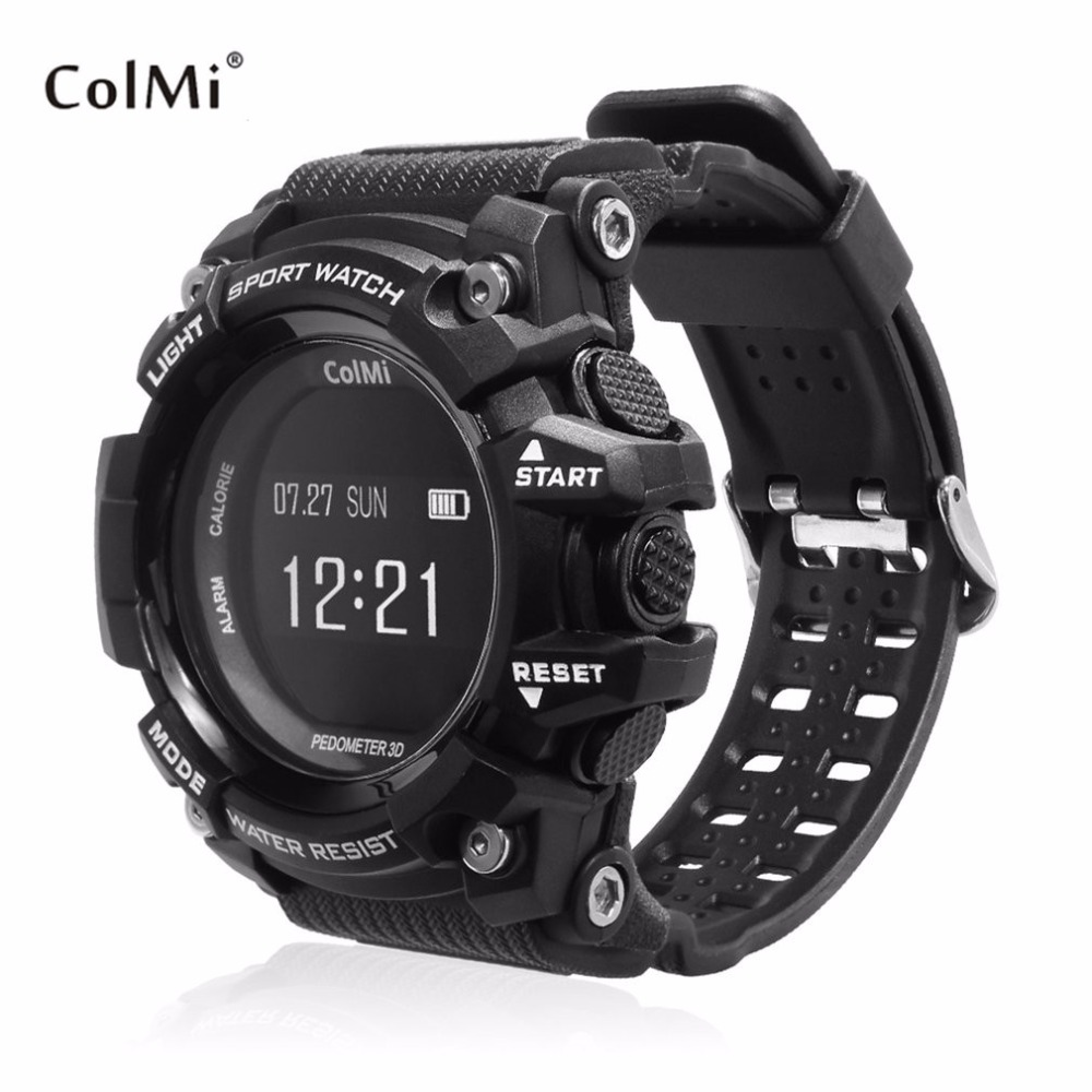 ColMi T1 Smart Watch With OLED Display Heart Rate Monitor Waterproof Push Message Call Reminder For Android For iOS Phone