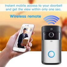 Video Doorbell ZONKO 720P WiFi 166 Degree Wide-Angle Lens Smart Doorbell Real-Time Two-Way Audio Night Vision PIR Motion Detecti wi fi video smart doorbell with 2 ways audio and video sensor1280 x 720 field of view180 degree video hd 720p