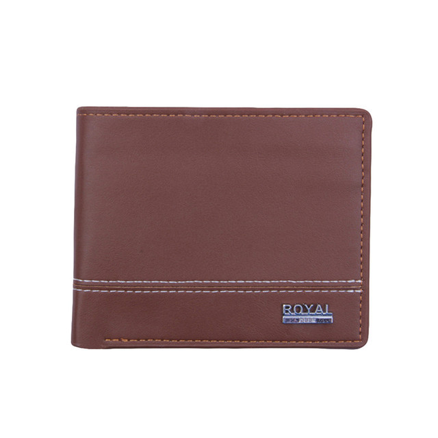 5211b354d384 US $3.32 30% OFF|Top 2018 Vintage Men Leather Brand Luxury Wallet Short  Slim Male Purses Money Clip Credit Card Change Bag Portomonee Carteria-in  ...