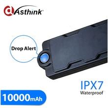 10000mAh Waterproof Magnetic Power Bank Hidden GPS Tracker GSM Listening Device For Asset Safety Motion & Dismount Sensor Alarm