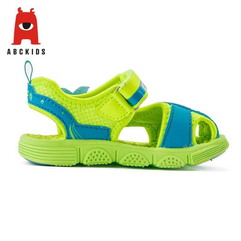 ABC เด็กสาวนุ่ม Soled ฤดูร้อนสัตว์พิมพ์รองเท้าแตะ Breathable Anti-SLIP รองเท้า