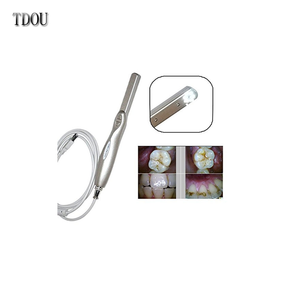 TDOUBEAUTY Dynamic 4 Mega Pixels 6-LED Intraoral Intra Oral Camera USB 2.0 -ORC5+20pcs Protective Sleeves Free Shipping