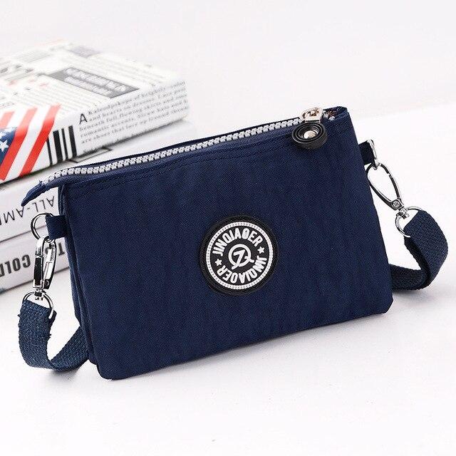 9 color Hot SELL 2017 new waterproof nylon bag 3 layer Clutch women handbag canvas bolsas fashion women messenger bag