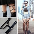 Japanese Harajuku Gothic Rivets Garter Cosplay Props Pu Cross-shaped Belt Body Bandage Strap