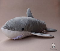 Plush Great Shark Doll Simulation Animal Toys Children Gifts Pillow Cute Soft Big Toy