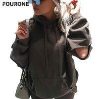 New Shelves Women Long Sleeve Hole Design Hooded Sweatshirt Street Hoodie Hip Hop Pullovers