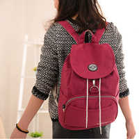 Women's Backpack Drawstring bag Waterproof Nylon 10 Colors Lady Women's Backpacks Female Casual Travel bag Bags mochila 511
