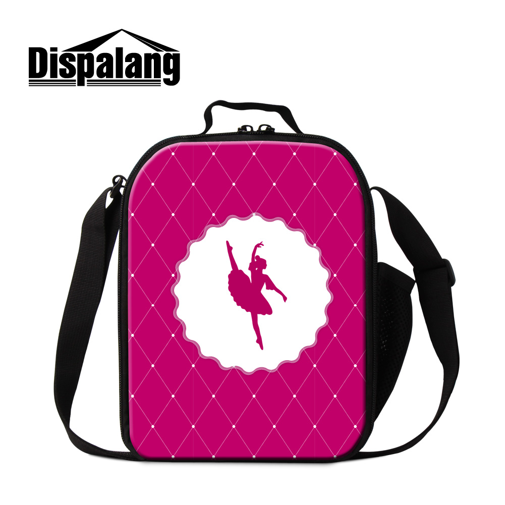 Dispalang 2017 newest design ballet girl thermo lunch bags for teenage girls adult insulation package portable lunch cooler bag