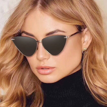 Small Cat Eye Sunglasses Women Retro Cool Sexy Triangle Sunglass Female Fashion Ocean Film Cateyes Sun Glasses UV400
