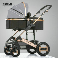Baby Stroller Can Be Sitting In The Flip Winter And Summer Dual use Stroller Children's Trolley Portable Carrinho De bebe